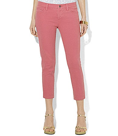 Lauren Jeans Co. Slimming Cropped Modern Straight Jeans