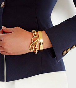 Michael Kors Logo Lock Toggle Bracelet