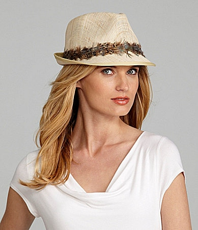Lauren by Ralph Lauren Feather Fedora Hat