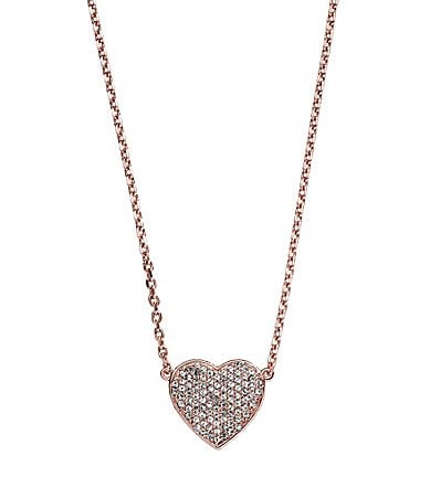 Michael Kors Pave Heart Pendant Necklace