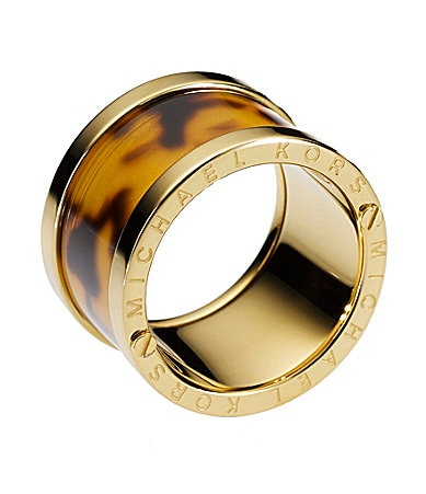 Michael Kors Tortoise Barrel Ring