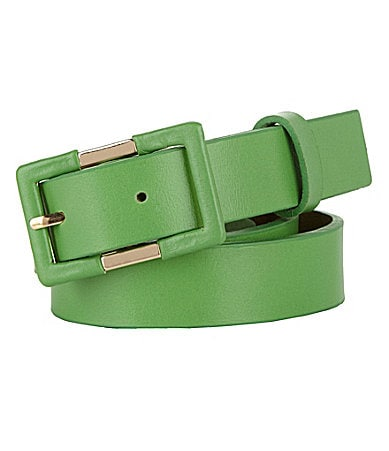 Tre Vero Leather Skinny Belt