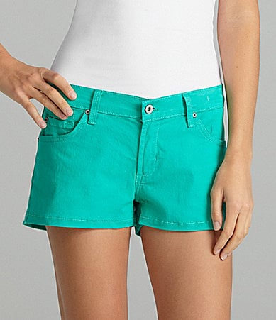 James Jeans Colored Denim Boyfriend Shorts