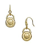 Michael Kors Logo Lock Drop Earrings