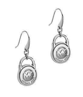 Michael Kors Logo Lock Drop Earrings Image