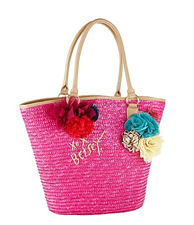 Betsey Johnson Santorini Straw Tote