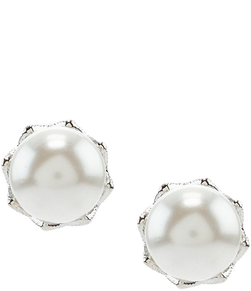 Nadri Faux-Pearl Stud Earrings