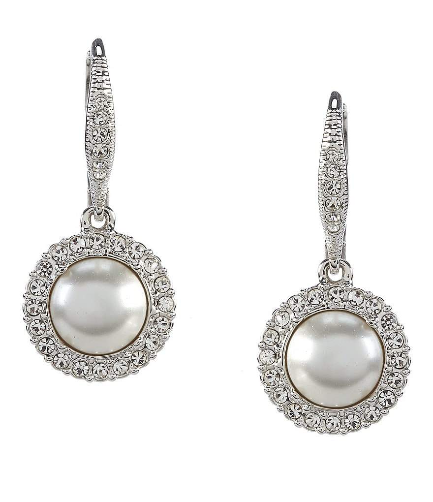 Nadri Pavé Pearl & Crystal Drop Earrings
