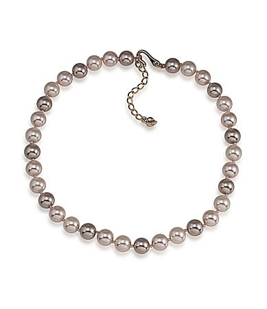 Carolee Slight Blush All Around Simulated Pearl Necklace