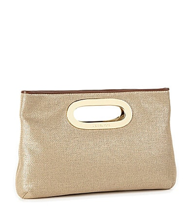 MICHAEL Michael Kors Berkley Metallic Clutch