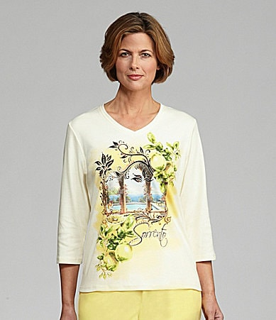 Allison Daley II Costa del Sol Printed Knit Top