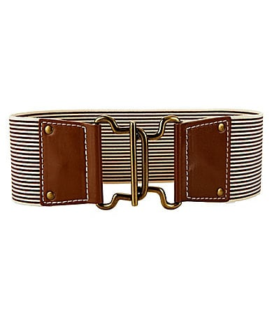 Jessica Simpson Striped Stretch Belt