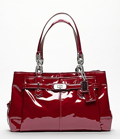 COACH CHELSEA PATENT LEATHER JAYDEN CARRYALL TOTE