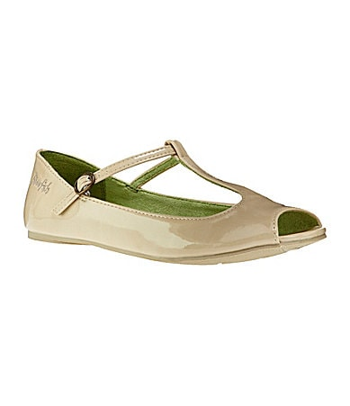 Blowfish Women�s Stila Peep-Toe T-Strap Flats