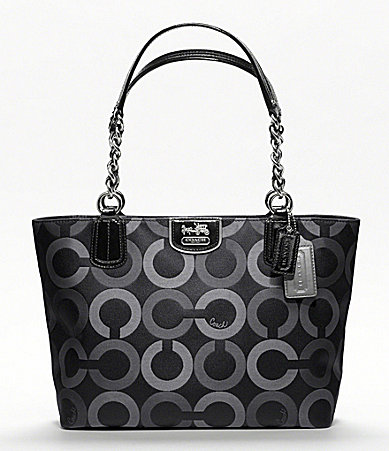 COACH MADISON OP ART MULTI SATEEN TOTE