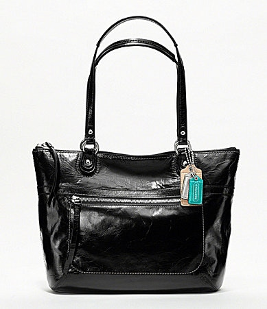 COACH POPPY LEATHER SMALL TOTE