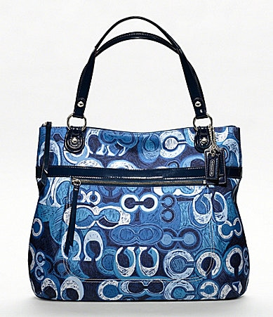 COACH POPPY DENIM PRINT GLAM