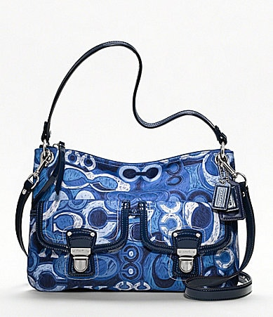 COACH POPPY DENIM PRINT POCKET HIPPIE