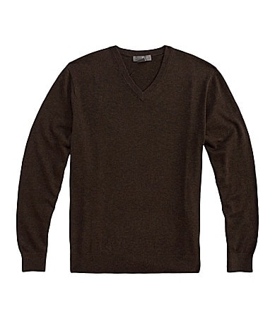 Daniel Cremieux Signature Supima Solid V-Neck Sweater