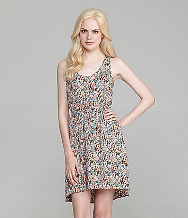 Collective Concepts Printed Tank Dress