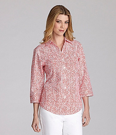 Westbound Easy-Care Ikat Print Shirt
