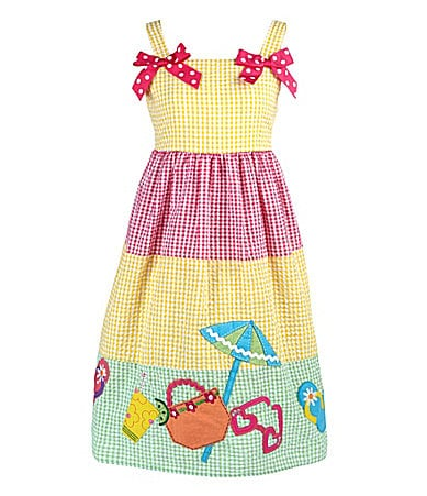 Goodlad 2T-6X Beach-Applique Seersucker Dress