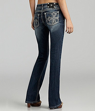 Miss Me Jeans Cross-Pocket Bootcut Jeans