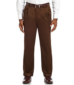 Roundtree & Yorke Pleated Ultimate Expander Travel Smart Twill Pants