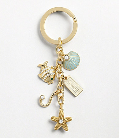 COACH UNDER THE SEA MULTI MIX KEY RING