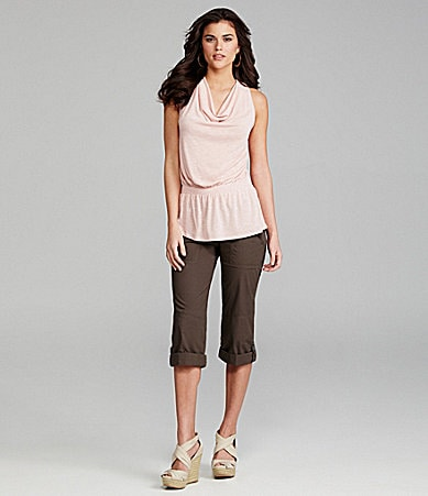 Gianni Bini Kelsey Knit Top & Cora Cropped Pants