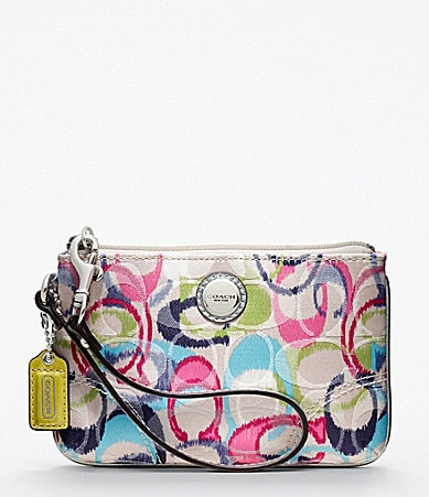 COACH POPPY IKAT SMALL WRISTLET