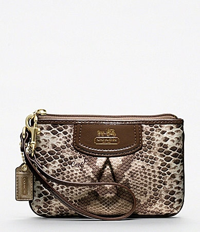 COACH MADISON PYTHON PRINT SMALL WRISTLET
