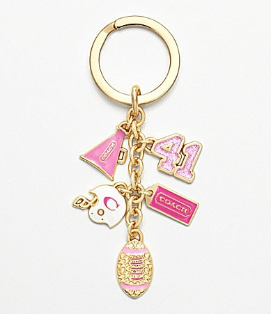 COACH GIRLY FOOTBALL MIX KEY RING