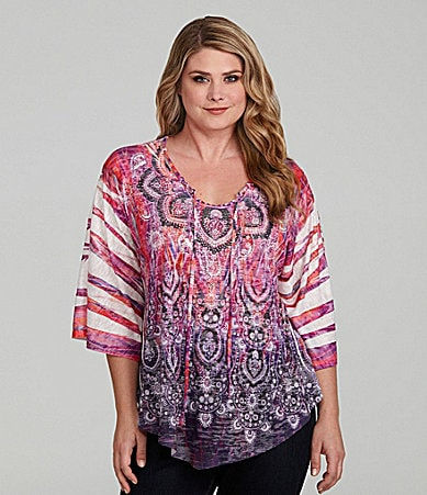 Reba Woman Tribal Sublimation Top