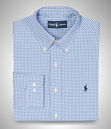 Polo Ralph Lauren Classic-Fit Gingham Oxford Dress Shirt