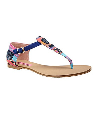 Betsey Johnson Bachi Flat Sandals