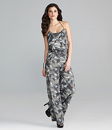 Gianni Bini Pineapple-Print  Jumpsuit