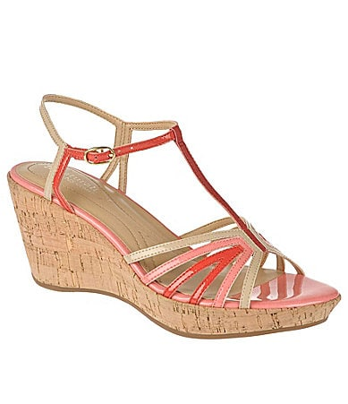 Naturalizer Women�s Newly T-Strap Wedge Sandals