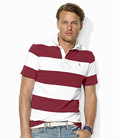 Polo Ralph Lauren Classic-Fit Short-Sleeved Striped Cotton Rugby Shirt