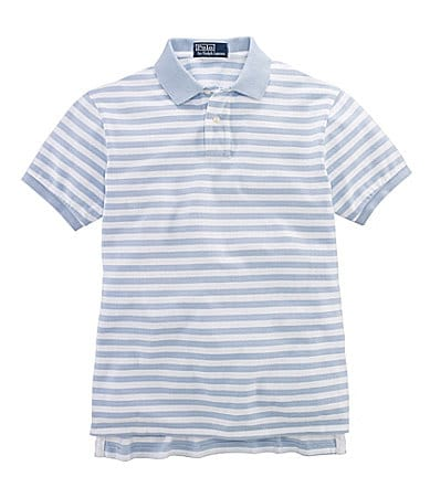 Polo Ralph Lauren Big & Tall Classic-Fit Short-Sleeved Striped Cotton Mesh Polo
