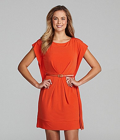 Vince Camuto Belted Batwing Dress