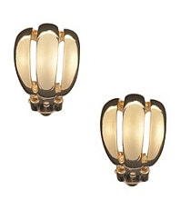 Dillard�s Tailored Ribbed Hoop Clip Earrings