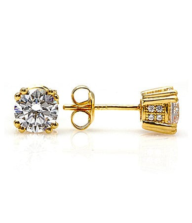 Crislu Micro Pave CZ Stud Earrings