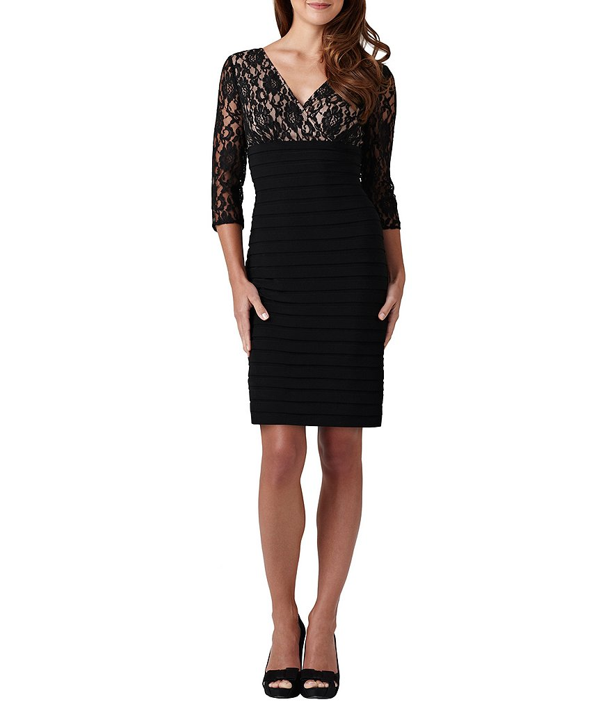 Adrianna Papell Lace-Bodice Dress