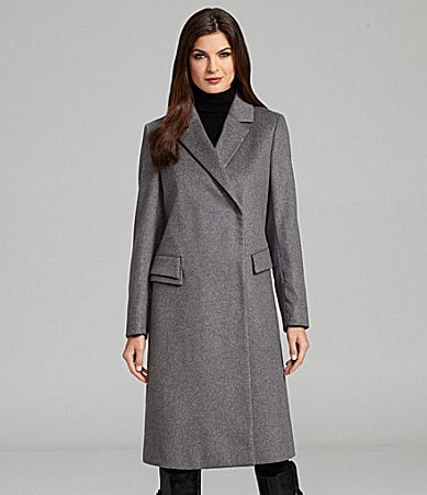 Katherine Kelly Cashmere Asymmetric Walking Coat