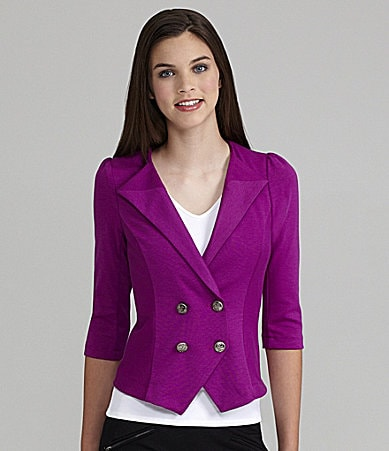 Rampage Metallic Button Blazer