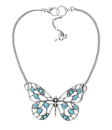 Fossil Whimsy Butterfly Pendant Necklace