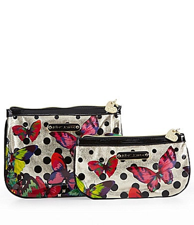 Betsey Johnson Butterfly 2-Piece Cosmetic Pouch