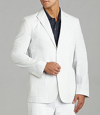 Perry Ellis Slim-Fit Seersucker Sportscoat