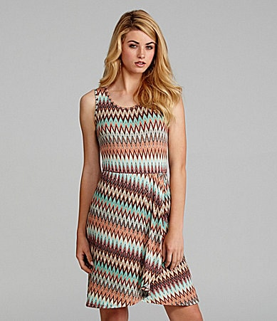 Cremieux Cali Sleeveless Zigzag Dress